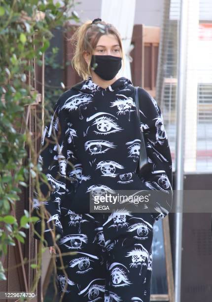 Hailey Bieber seen on November 18, 2020 in West Hollywood, California.