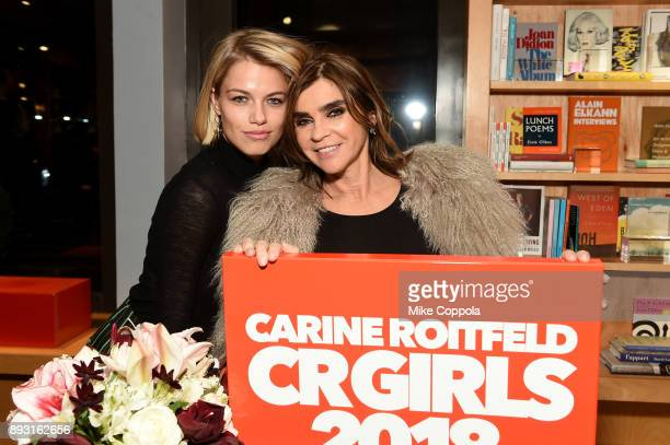 Hailey Clauson and Carine Roitfeld Celebrate CR Girls 2018 At Bookmarc on December 14 2017 in New York City