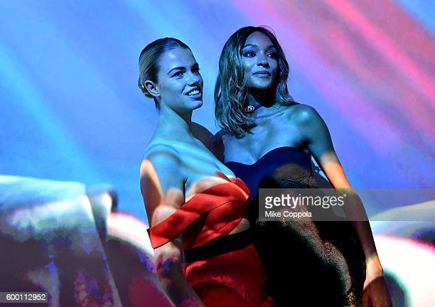 Hailey Clauson and Jourdan Dunn attend the Cartier Fifth Avenue Grand Reopening Event at the Cartier Mansion on September 7 2016 in New York City
