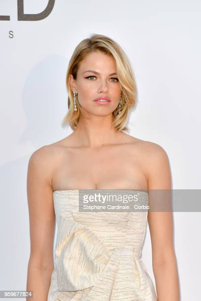 Hailey Clauson arrives at the amfAR Gala Cannes 2018 at Hotel du CapEdenRoc on May 17 2018 in Cap d'Antibes France