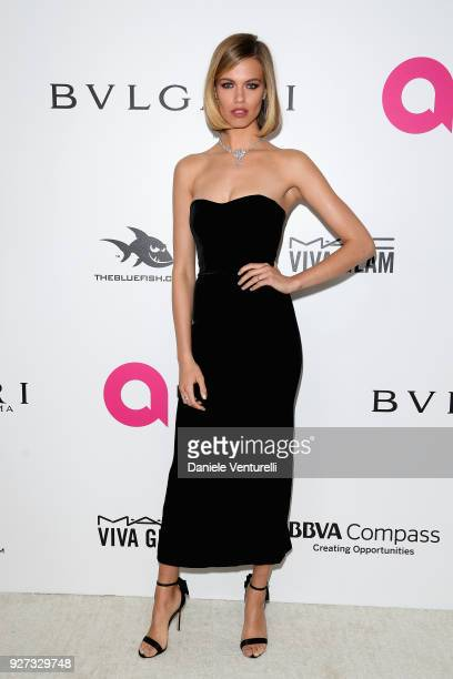 Hailey Clauson attends Elton John AIDS Foundation 26th Annual Academy Awards Viewing Party at The City of West Hollywood Park on March 4 2018 in Los...