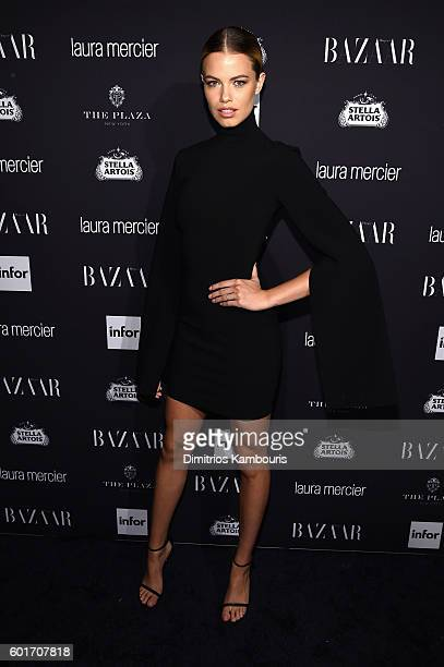 Hailey Clauson attends Harper's Bazaar's celebration of 'ICONS By Carine Roitfeld' presented by Infor Laura Mercier and Stella Artois at The Plaza...