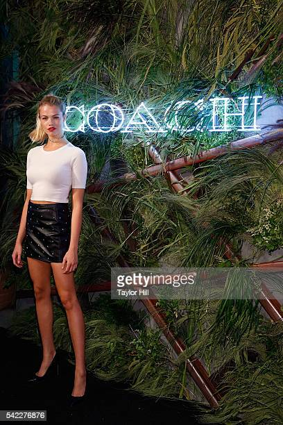 Hailey Clauson attends the 2016 Coach and Friends Of The High Line Summer Party at the High Line on June 22 2016 in New York City