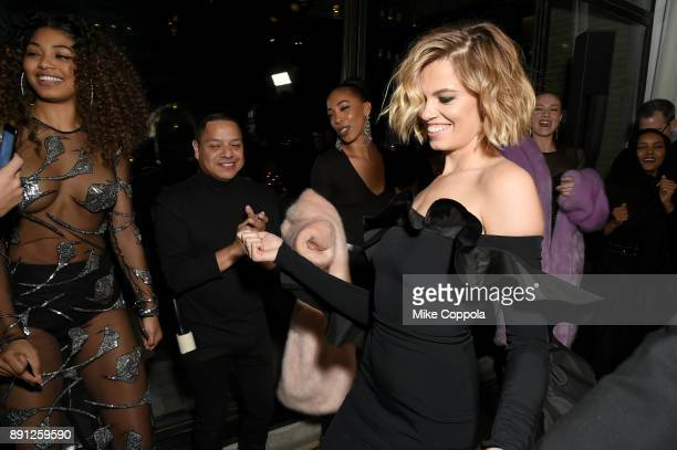 Hailey Clauson attends the CR Fashion Book Celebrating launch of CR Girls 2018 with Technogym at Spring Place on December 12 2017 in New York City
