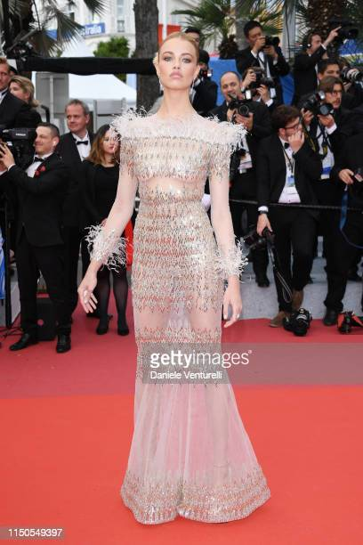 Hailey Clauson attends the screening of La Belle Epoque during the 72nd annual Cannes Film Festival on May 20 2019 in Cannes France