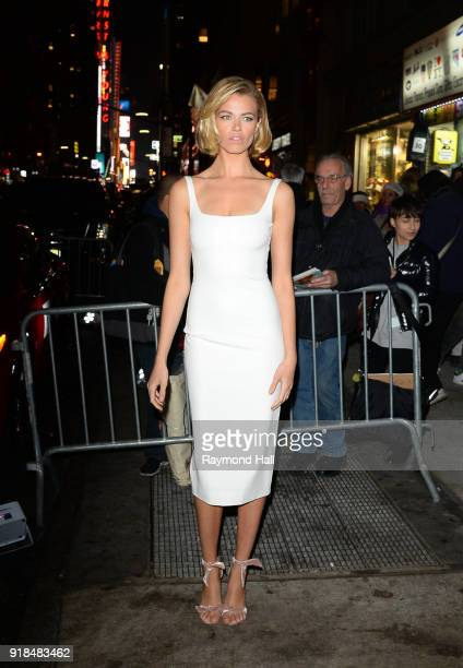 Hailey Clauson attends the Sports Illustrated Swimsuit 2018 launch event at the Moxie Hotel on February 14 2018 in New York City