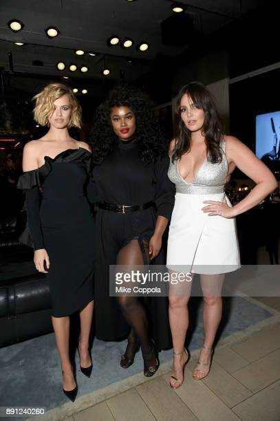 Hailey Clauson Candice Huffine and Precious Lee attend the CR Fashion Book Celebrating launch of CR Girls 2018 with Technogym at Spring Place on...