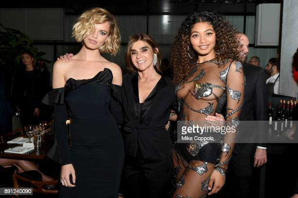 Hailey Clauson Carine Roitfeld and Danielle Herrington attends the CR Fashion Book Celebrating launch of CR Girls 2018 with Technogym at Spring Place...