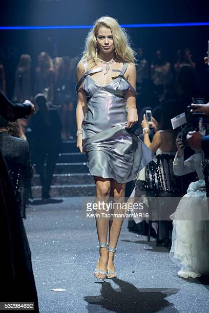 Hailey Clauson walks the runway at amfAR's 23rd Cinema Against AIDS Gala at Hotel du CapEdenRoc on May 19 2016 in Cap d'Antibes France