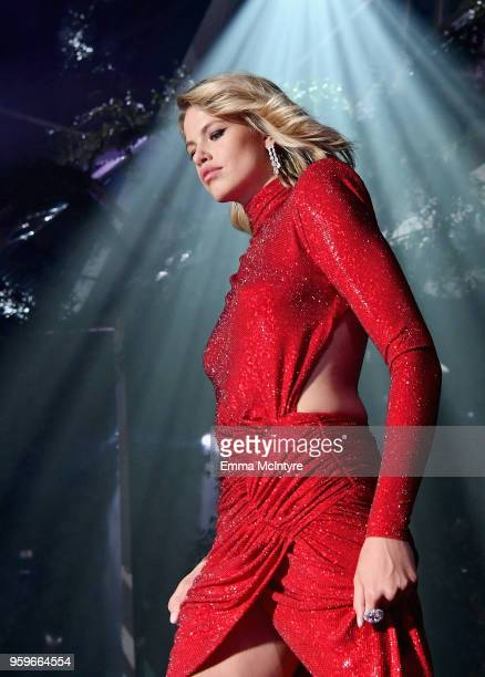Hailey Clauson walks the runway at the amfAR Gala Cannes 2018 at Hotel du CapEdenRoc on May 17 2018 in Cap d'Antibes France