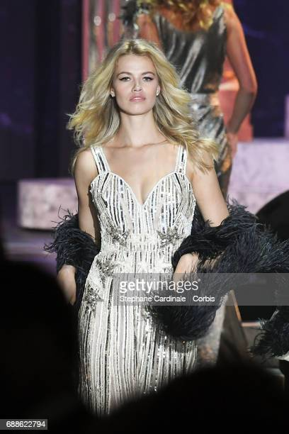 Hailey Clauson walks the runway during the amfAR Gala Cannes 2017 at Hotel du CapEdenRoc on May 25 2017 in Cap d'Antibes France
