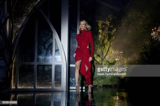 Hailey Clauson walks the runway during the amfAR Gala Cannes 2018 fashion show at Hotel du CapEdenRoc on May 17 2018 in Cap d'Antibes France