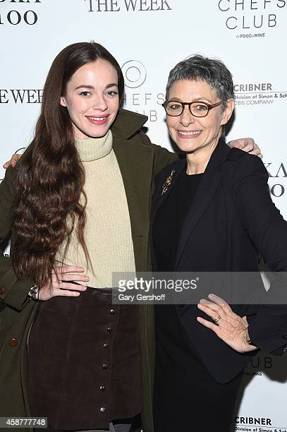 Hailey Gates and Joan Juliet Buck attend Anjelica Huston's Watch Me Book Party at Chefs Club by Food Wine on November 10 2014 in New York City