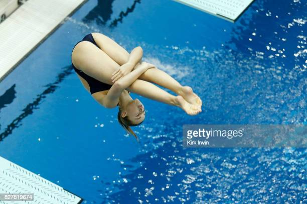 Hailey Hernandez of GC Diving competes during the Senior Women's 1m Springboard Final during the 2017 USA Diving Summer National Championships on...