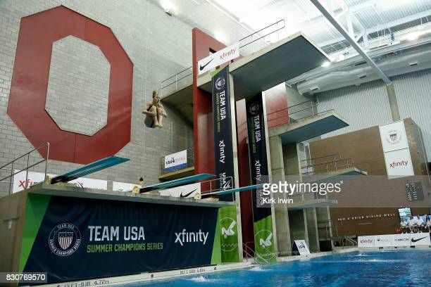 Hailey Hernandez of GC Diving competes during the Senior Women's 3m Springboard Final during the 2017 USA Diving Summer National Championships on...