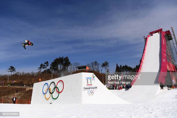 Hailey Langland of the United States competes during the Snowboard Ladies' Big Air Qualification on day 10 of the PyeongChang 2018 Winter Olympic...