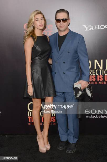 """Hailey Rhode Baldwin and Stephen Baldwin attend the New York premiere of """"One Direction: This Is Us"""" at the Ziegfeld Theater on August 26, 2013 in..."""