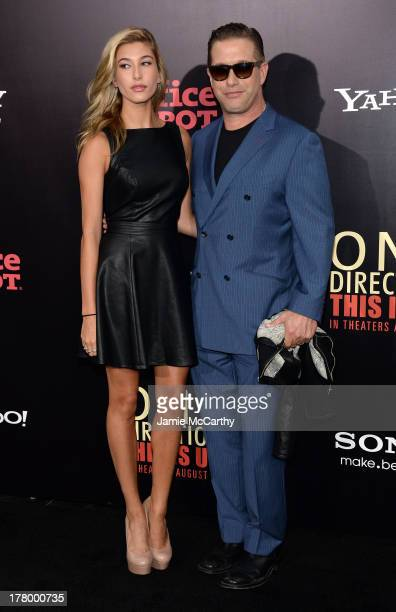 Hailey Rhode Baldwin and Stephen Baldwin attend the world premiere of One Direction This Is Us at the Ziegfeld Theater on August 26 2013 in New York...