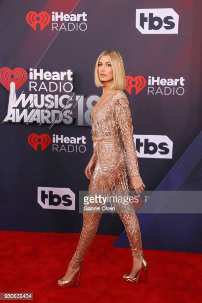Hailey Rhode Baldwin attends the 2018 iHeartRadio Music Awards at the Forum on March 11 2018 in Inglewood California