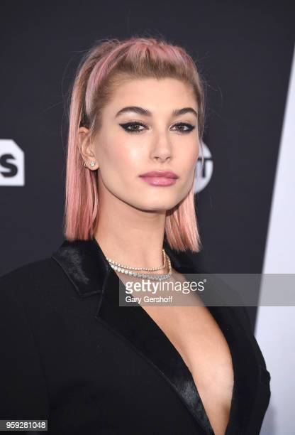 Hailey Rhode Baldwin attends the 2018 Turner Upfront at One Penn Plaza on May 16 2018 in New York City