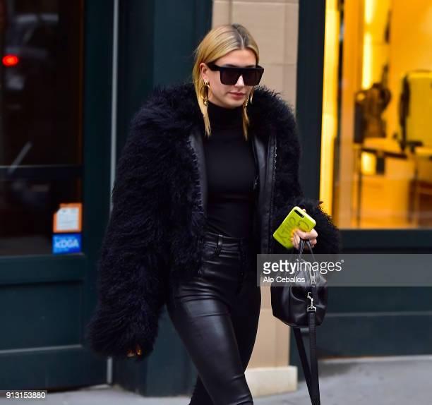 Hailey Rhode Baldwin is seen in Chelsea on February 1 2018 in New York City