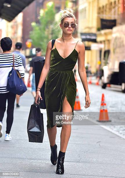 Hailey Rhode Baldwin is seen in Soho on June 6 2016 in New York City