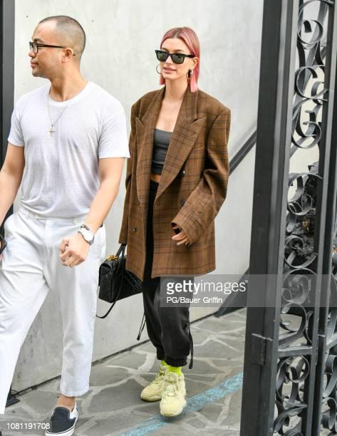 Hailey Rhode Bieber is seen on January 11 2019 in Los Angeles California