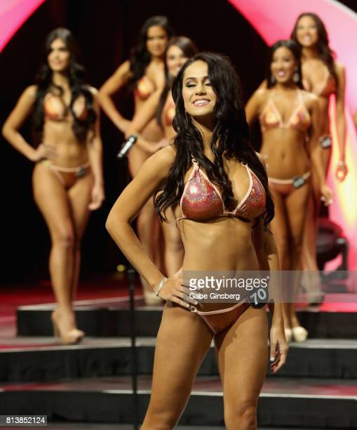 Hailey Slobodzian of South Fort Meyers Florida competes during the 21st annual Hooters International Swimsuit Pageant at The Pearl concert theater at...