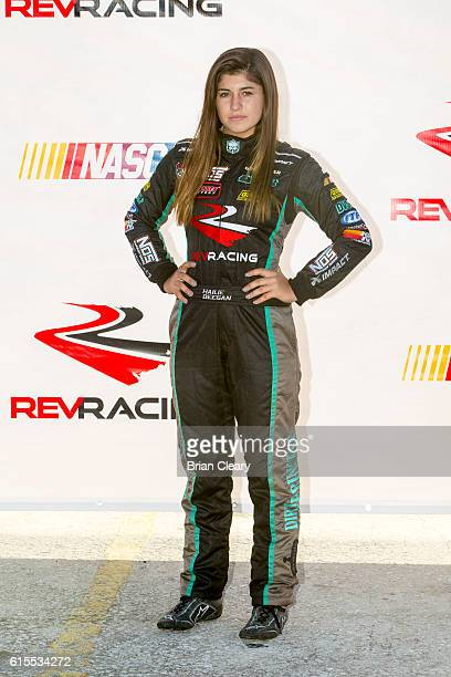 Hailie Deegan at the NASCAR Drive for Diversity Developmental Program at New Smyrna Speedway on October 18 2016 in New Smyrna Beach Florida