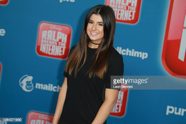 Hailie Deegan attends Premiere Of Disney's Ralph Breaks The Internet Arrivals on November 05 2018 in Los Angeles California