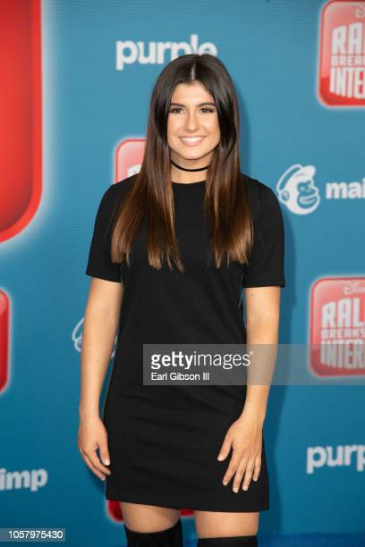 Hailie Deegan attends the Premiere Of Disney's Ralph Breaks The Internet on November 5 2018 in Los Angeles California