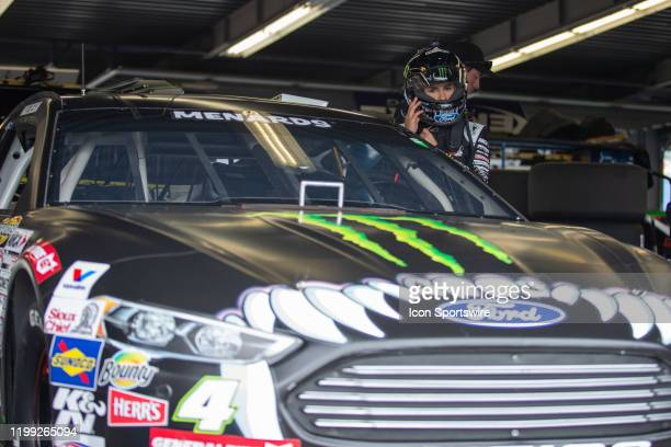 Hailie Deegan driver of the Monster Energy Ford during practice for the Lucas Oil 200 Driven by General Tire on February 7 2020 at Daytona...