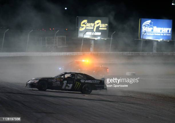 Hailie Deegan NASCAR KN Pro West Series Toyota Camry celebrates the victory with a burnout during the NASCAR KN Pro Series West Star Nursery 100 ON...