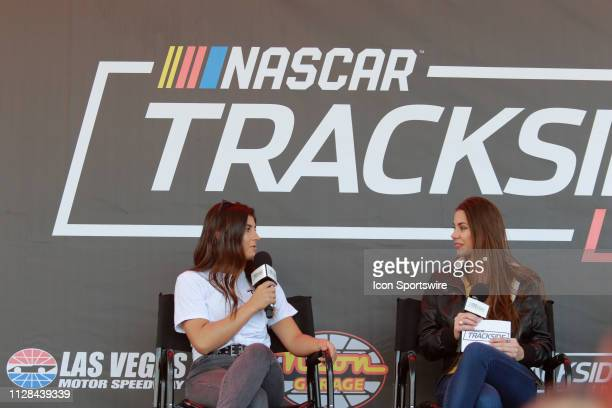 Hailie Deegan with fans at Trackside Live in the Neon Garage after the NASCAR Xfinity Series Boyd Gaming 300 on March 2 at Las Vegas Motor Speedway...