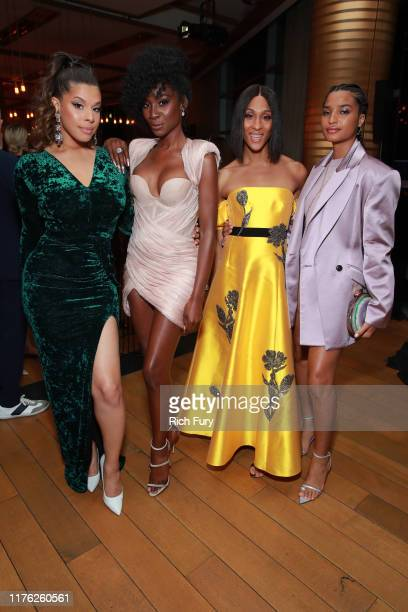 Hailie Sahar Angelica Ross Mj Rodriguez and Indya Moore attend Vanity Fair and FX's annual Primetime Emmy Nominations Party on September 21 2019 in...