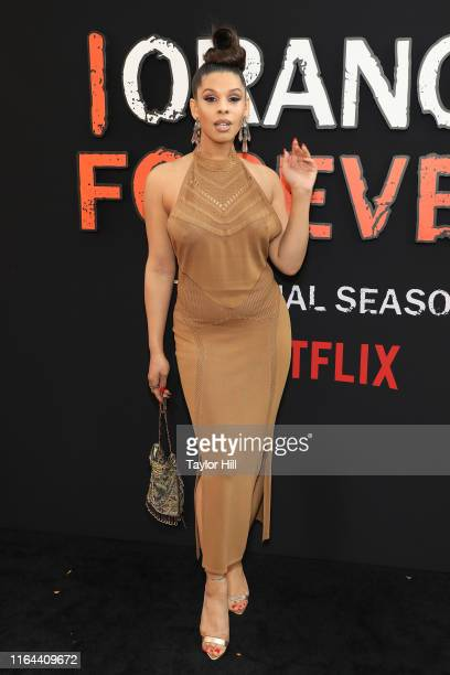 """Hailie Sahar attends the """"Orange is the New Black"""" final season world premiere at Alice Tully Hall, Lincoln Center on July 25, 2019 in New York City."""