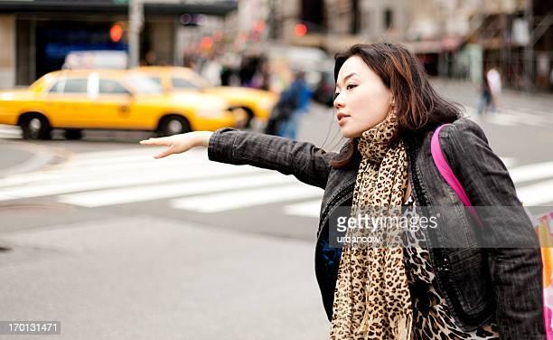 Hailing a cab, New York City