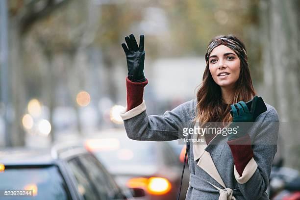 Éviter d'avoir à héler un taxi dans Barcelone sur une journée d'hiver.