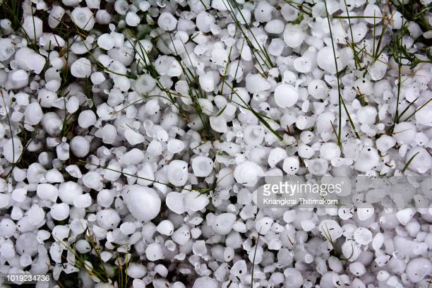 hailstones. - hail stock pictures, royalty-free photos & images