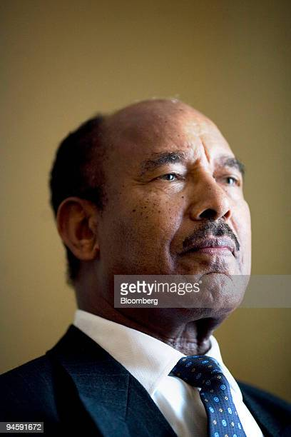 Hailu Shawel president of the Coalition for Unity and Democracy in Ethiopia poses in Washington DC US on Sunday Oct 14 2007 In recent weeks...