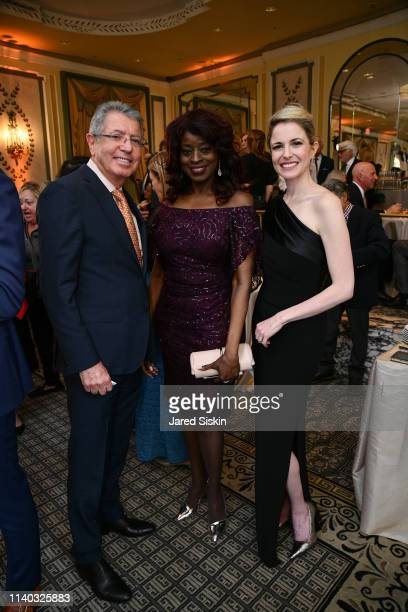 Haim Divon Donna Cox and Michelle Divon attend The Spirit of Soroka Gala at The Pierre Hotel on April 03 2019 in New York City