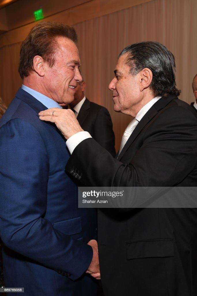 Haim Saban and Arnold Schwarzenegger at the FIDF Western Region Gala held at The Beverly Hilton Hotel on November 2, 2017 in Beverly Hills, California.