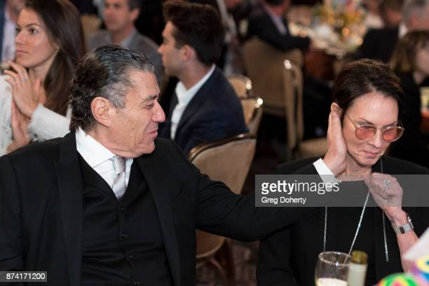 Haim Saban and Cheryl Saban attend the Saban Community Clinic's 50th Anniversary Dinner Gala at The Beverly Hilton Hotel on November 13 2017 in...