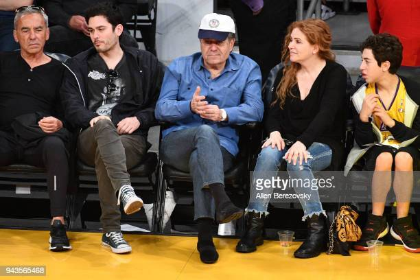 Haim Saban attends a basketball game between the Los Angeles Lakers and the Utah Jazz at Staples Center on April 8 2018 in Los Angeles California