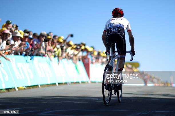 Haimar Zubeldia Agirre of Spain riding for Trek Segafredo rides during stage five of the 2017 Le Tour de France a 1605km stage from Vittel to La...