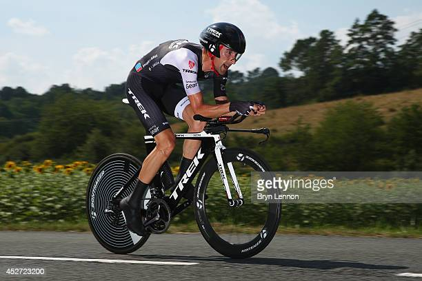 Haimar Zubeldia of Spain and Trek Factory Racing in action during the twentieth stage of the 2014 Tour de France a 54km individual time trial stage...