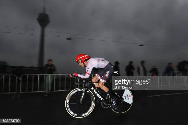 Haimar Zubeldia of Spain and TrekSegafredo competes during stage one of Le Tour de France 2017 a 14km individual time trial on July 1 2017 in...