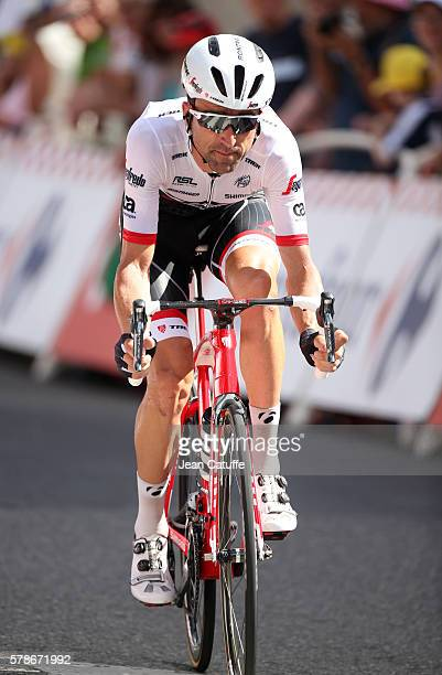 Haimar Zubeldia of Spain and TrekSegafredo in action during stage 18 of the Tour de France 2016 a time trial of 17km between Sallanches and Megeve on...
