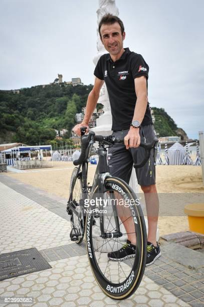Haimar Zubeldia of Spain and TrekSegafredo In the Ondarreta beach on the eve of the Classic San Sebastian 2017 on July 28 2017 in San Sebastian Spain