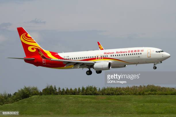 Hainan Airlines Boeing 737800 landing at Tokyo Narita airport